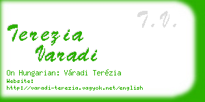 terezia varadi business card